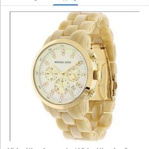 Michael Kors Chronograph Acrylic horn watch